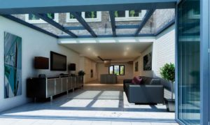 Conservatories: Sliding folding doors